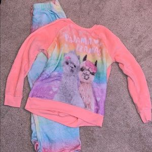Rainbow, Pajama Llama Set from Justice